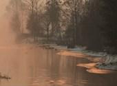 Crépuscule hivernal Fonds d'écran