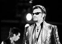 Johnny Hallyday Noir et Blanc Concert