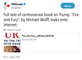 Fire And Fury Michael Wolff PDF Tweet Photos
