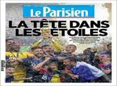 Le Parisien fait sa une sur la victoire des Français à la Coupe du Monde 2018