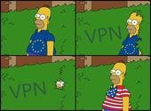 Homer Simpson quitte l'UE pour les USA Dessins & Arts divers