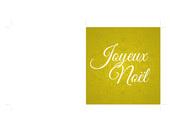 Vœux - Carte dorée personnalisable