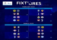 Calendrier Huitièmes de finale Ligue des Champions 2019-2020