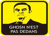 Autocollant Ghosn n'est pas dedans (français) Dessins & Arts divers