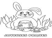 Coloriage lapin de Pâques Dessins & Arts divers