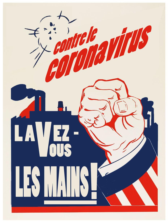 Poster Lavez vous les mains coronavirus Dessins & Arts divers