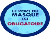 sticker port du masque obligatoire 06 Dessins & Arts divers