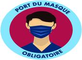 sticker port du masque obligatoire 05 Dessins & Arts divers