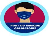 sticker port du masque obligatoire 04 Dessins & Arts divers