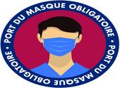 sticker port du masque obligatoire 03 Dessins & Arts divers