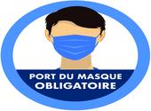 Sticker port du masque obligatoire 02 Dessins & Arts divers