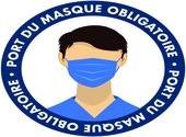 Sticker port du masque obligatoire Dessins & Arts divers