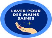 Sticker lavez vous les mains 04 Dessins & Arts divers