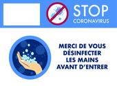 Poster signalétique lavage de mains